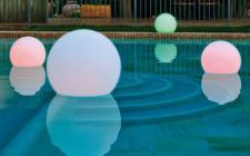 LED Leuchtkugel, Buly Light, 2 Größen, weiß, mit Akku und Fernbedienung, in 1...