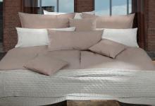 Pfeiler Bettwäsche / Bettbezug Garnitur, reine Baumwolle, hellgrau, 5 Größen-...
