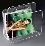 Hochwertige Acryl-Glas Zeitungstasche, Zeitungsständer, klar, 33 x 23 cm, H 3...