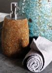 Seifenspender aus Flussstein, Ø 10 x H19 cm