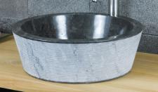 Aufsatzwaschbecken aus Marmor, in 2 verschiedenen Größen