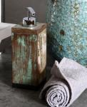Seifenspender aus Bootsholz, B6, 5 x L6, 5 x H20 cm