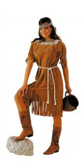 Indianer Kostüm Damenkostüm Indianerin Kostüm braun Dame Squaw Kostüm KK