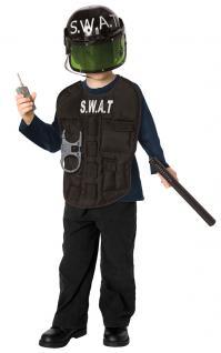 Karneval Klamotten Kostüm SWAT Polizist Kostüm Karneval Polizei Jungenkostüm