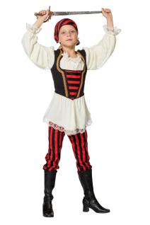 Karneval Klamotten Kostüm Piratin Ronja Mädchen Karneval Seeräuber Kinderkostüm