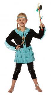 Indianer Kostüm Kinder-Kostüm Indianerin Kostüm schwarz Mädchen Kostüm KK