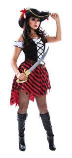 Karneval Klamotten Sexy Piratin Kostüm Karneval Piratenbraut Damenkostüm