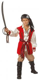Karneval Klamotten Kostüm Pirat Seeräuber Junge Karneval Kapitän Kinderkostüm