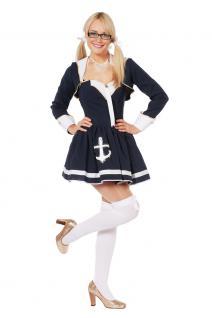 Karneval Klamotten Kostüm sexy Navy Matrosin Kleid Dame Karneval Damenkostüm