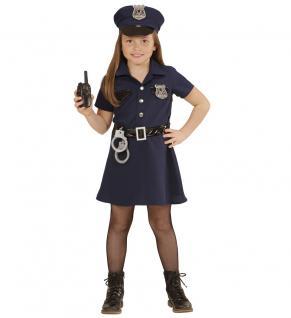 Karneval Klamotten Kostüm Polizistin Sonja Mädchen Polizei Mädchenkostüm