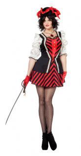 Karneval Klamotten Kostüm Sexy Piratin Dame Karneval Seeräuberin Damenkostüm