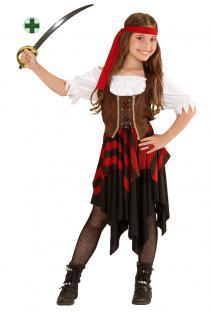 Karneval Klamotten Kostüm Pirat Mädchen Kostüm Karneval Abenteuer Mädchenkostüm