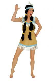 Indianer Damen Kostüm Indianerin Kostüm sexy Dame Squaw Damenkostüm KK