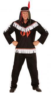 Karneval Klamotten Kostüm Indianer Häuptling Herr Karneval Western Herrenkostüm
