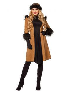 Karneval Klamotten Kostüm Dschingis Khan Dame Karneval Mongolin Damenkostüm