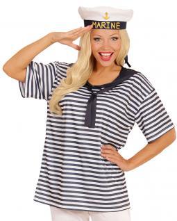 Kostüm Matrosin Matrosen Damen-kostüm T-Shirt Marine Karneval Damenkostüm KK
