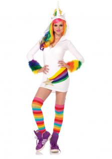 Karneval Klamotten Kostüm Einhorn Dame Luxus Karneval Tier Damenkostüm