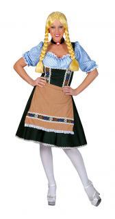 Karneval Klamotten Kostüm Dirndl Heidi Dame Oktoberfest Damenkostüm