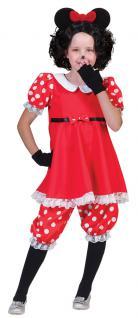 Karneval Klamotten Kostüm Maus Milly Minnie Kind Kostüm Comics Kinderkostüm