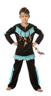 Indianer Kostüm Kinder-Kostüm Junge Kostüm Indianer schwarz KK