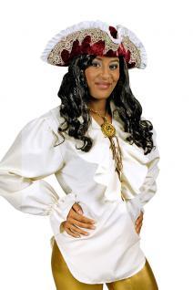 Karneval Klamotten Kostüm Bluse Piratin beige Dame Kostüm Karneval Abenteuer