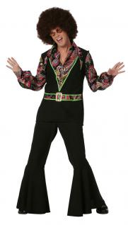 Hippie Hippie-hemd Flower Power 60er 70er Peace Herren-Kostüm KK