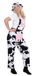 Karneval Klamotten Kostüm Kuh Latzhose Frau Kostüm Karneval Tier Damenkostüm