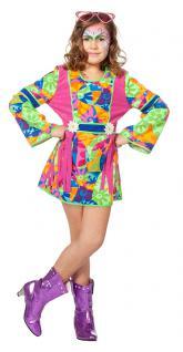 Hippie-Kleid Hippie-kostüm Flower Power 60er 70er Jahre Kinder Mädchen-Kostüm KK