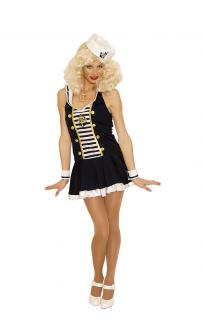 Karneval Klamotten Kostüm Sexy Matrosin Dame Karneval Matrose Damenkostüm
