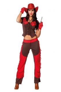 Karneval Klamotten Kostüm Sexy Cowgirl Dame Saloon Karneval Cowboy Damenkostüm