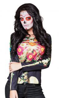 Karneval Klamotten Tag des Todes Dame T-Shirt 3 D Zubehör Halloween Karneval