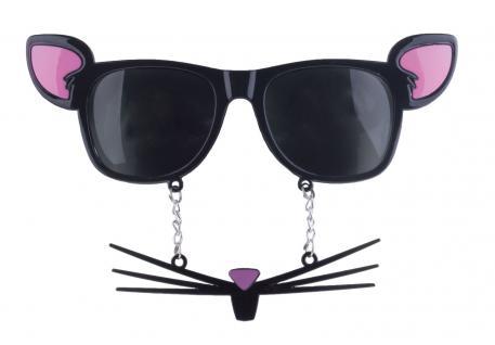 Karneval Klamotten Kostüm Brille Maus schwarz Zubehör Tier Karneval