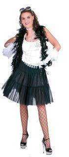 Karneval Klamotten Kostüm Petticoat Show schwarz Show Damenkostüm Einheitsgröße