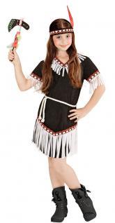 Indianer Kostüm Kinder-Kostüm Indianerin Kostüm Mädchen schwarz weiß Kostüm KK
