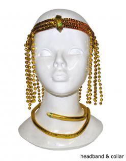 Karneval Klamotten Kostüm Schmuck Set Cleopatra Zubehör Rom Karneval