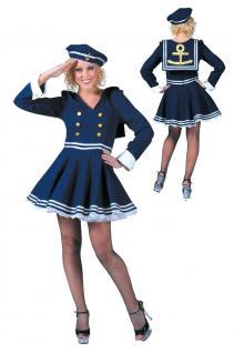 Karneval Klamotten Kostüm Matrosin Marine Dame Karneval Navy Damenkostüm