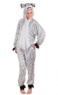Karneval Klamotten Kostüm Dalmatiner Plüsch Dame Kostüm Tier Damenkostüm