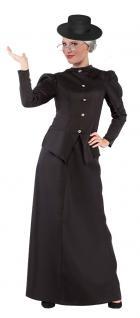 Karneval Klamotten Kostüm Nanny Mary Poppins Dame Karneval Damenkostüm