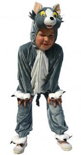 Karneval Klamotten Kostüm Katze Tom Plüsch Junge Mädchen Tier Kinderkostüm