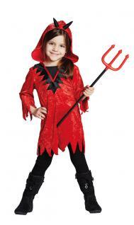 Karneval Klamotten Kostüm Teufelin Mädchen Halloween Teufel Mädchenkostüm