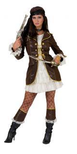 Karneval Klamotten Kostüm Piratin Dame Abenteuer Kostüm Karneval Pirat