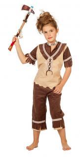 Indianer Kostüm Kinder-Kostüm Indianerin Kostüm braun beige Mädchen Kostüm KK