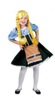 Oktoberfest Kostüm Dirndl Heidi Mädchen Trachtenkleid Dirndl Bayern Tirolerin KK