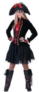 Karneval Klamotten Kostüm Jacke schwarz rot Show Party Silvester Damenkostüm