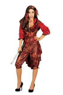 Karneval Klamotten Kostüm Piratin Korsarin Kostüm Karneval Abenteuer Damenkostüm