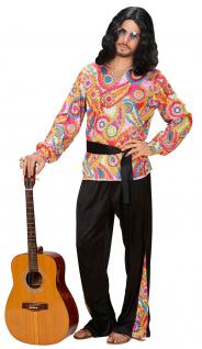 Hippie Hippie-kostüm Flower Power 60er 70er Peace Herren-Kostüm KK