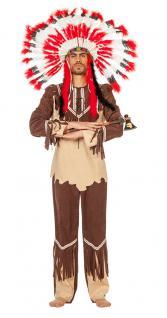 Karneval Klamotten Kostüm Indianer Cherokee Herr Karneval Western Herrenkostüm