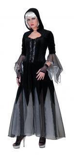 Hexenkostüm Gothic Braut Dame Hexe Halloween Horror Zombie Damenkostüm KK