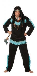 Indianer Kostüm Herren Herrenkostüm schwarz Kostüm Indianer Herr KK