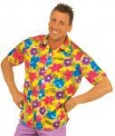 Kostüm Hawaii Hemd gelb Blumen Herr Kostüm Karneval Sommerparty Herrenkostüm